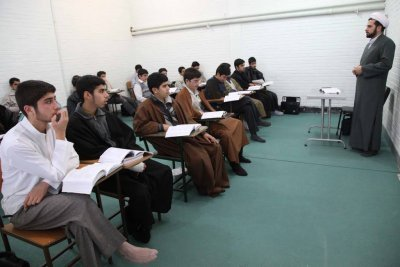 Brainwashing in Classroom, Iran, Boys