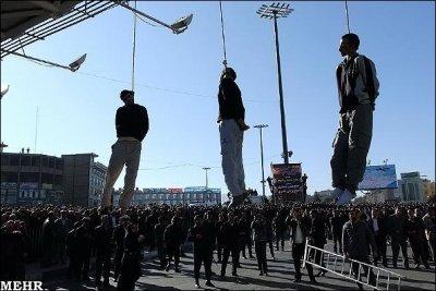 Iran Street Hanging