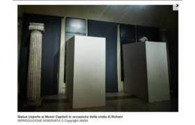 Italy Museum visited by Rouhani 2016