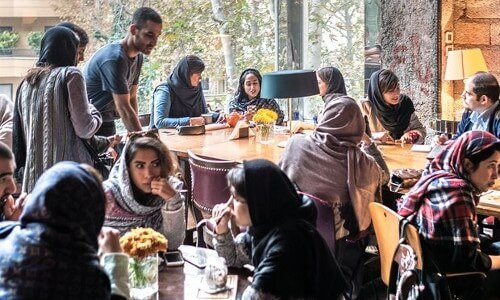 A Café in northern Tehran