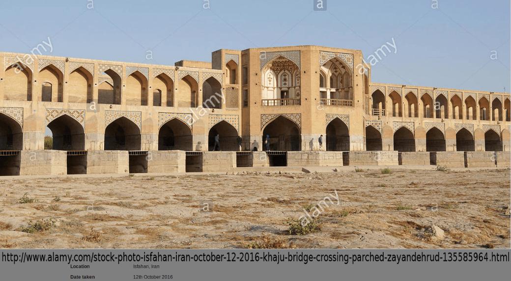 Iran Isfahan Zayandeh-Rud