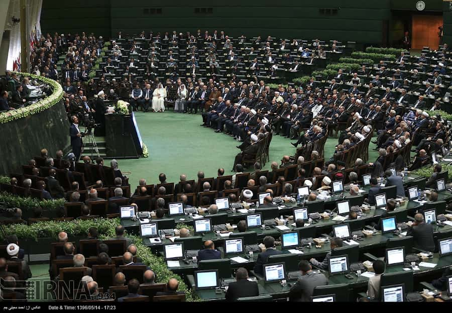 Iranian president in parliament, Majless