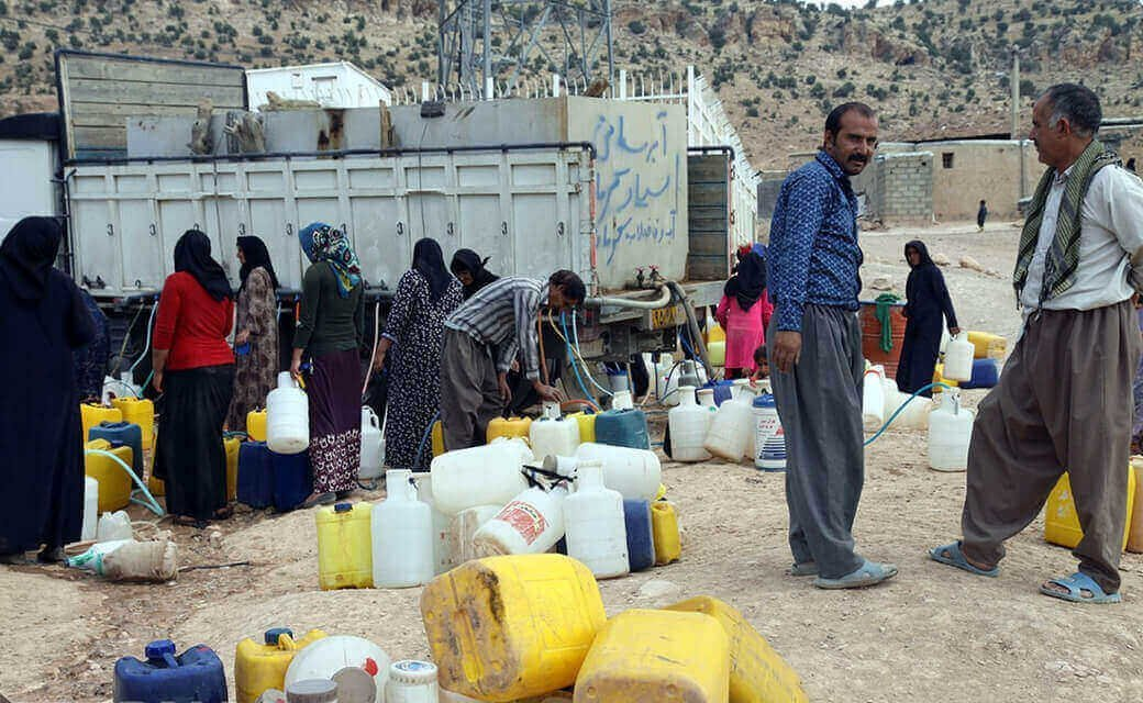 Iran, Drought water shortage, tanker