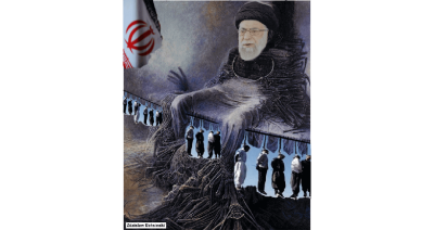 , ایران مدرن Khamenei Hanging in Iran