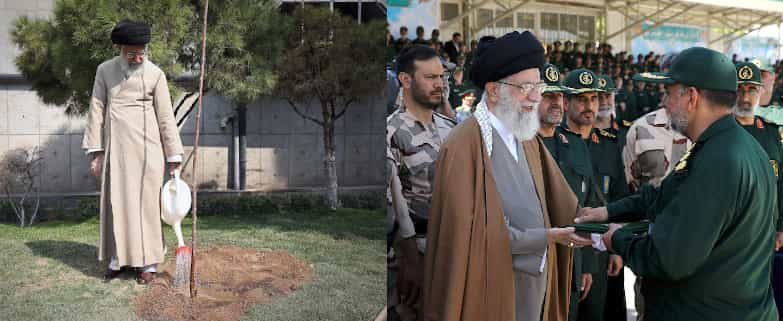 Khamenei, trees and the military