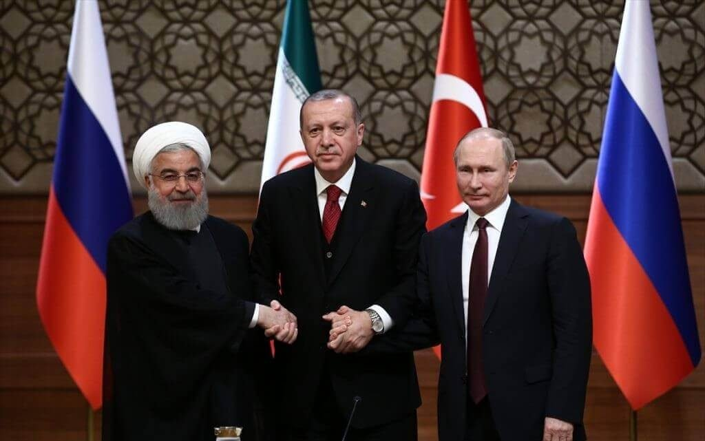 Rouhani Erdogan, Putin, Ankara