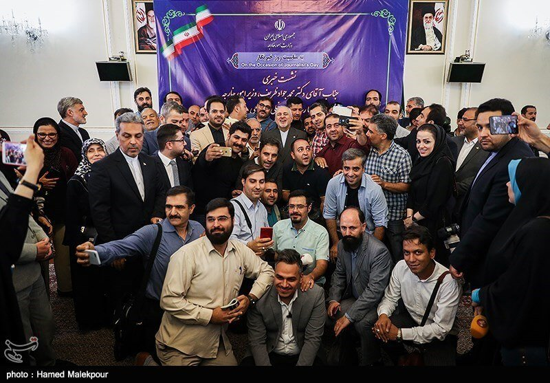 Préciouse Zarif and Journalists