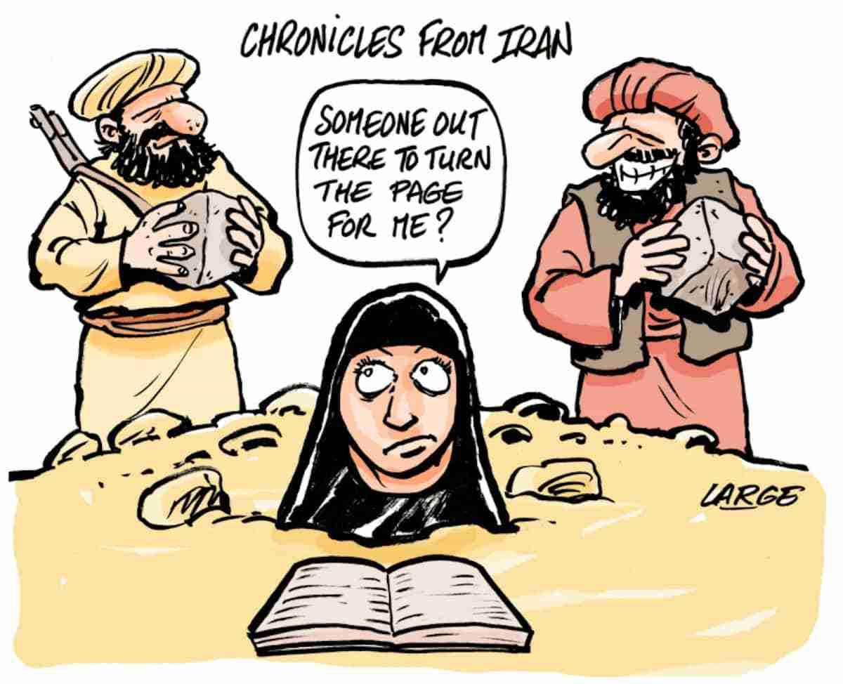 Albertine Ahmadi Cartoon