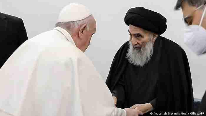 دیدار پاپ فرانسیس و آیت الله العظمی سیستانی